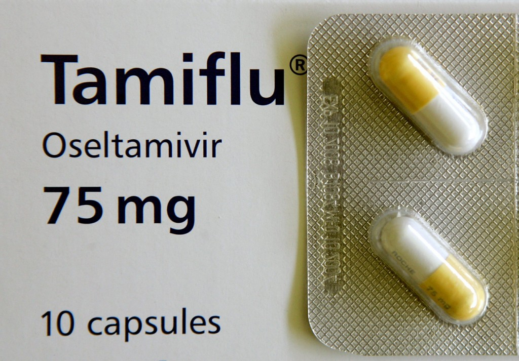 File close up photo of Roche AG's Tamiflu pills